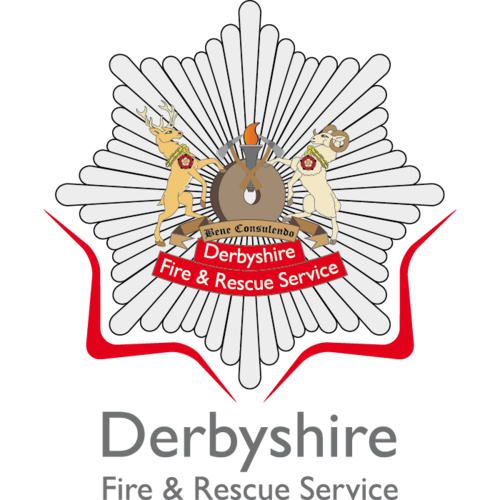 Derbyshire Fire and Rescue's logo